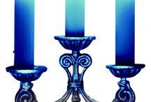 decoupage candles, lanterns, lights
