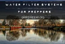 Water Storage and Filtration / All about storing water and making found water safe to drink in an emergency!