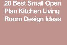 Kitchen Living Room Plan