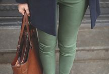 Pantalones verdes militares