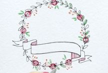 Blomster, blader & border