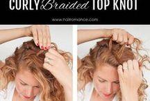 Kudrnaté vlasy-účesy