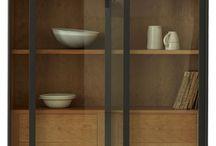Vitrina comedor / Mueble con vidrio para vajilla y cristal