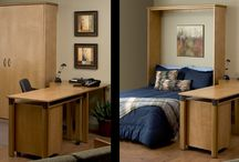 Wall Beds & Murphy Beds / Hide away beds, pull down beds, also known as Murphy Beds -- guest lodging without using up an entire room. Allows your spare room to be useful year round as a craft room, office, or storage.