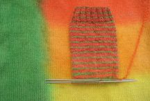Sock blank dyeing