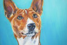 Basenji Dog art