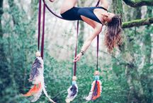 Aerial Hoop in the Forest