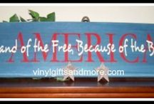 Patriotic / Vinyl crafts for 4th of July, Freedom, Independence