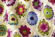 crochet flower blankets