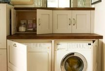 Laundry ideas / Small cupboards for washing powder etc