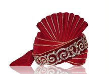 Groom Accessories - Wedding Turbans / Indian groom is incomplete without groom accessories mainly wedding turbans. Check the latest turban designs on Gravity Fashion