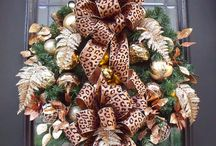 Christmas Decor - Leopard Style / Decorating with cheetah for Christmas  / by Debbie Mayfield