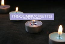 The Quadrooplettes / Characters for books, tele program or film: Dorothy, Theodore, Travis and Mavis. No one knows where they come from, not even them. Each of them has special skills & interests like Egyptology, Botany...  http://www.thequadrooplettes.com