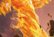 Fantasy elemental things-fire