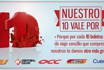 Promociones ADO / Para consentir a todos los viajeros que utilizan los Autobuses ADO para llegar a su destino se han creado promociones atractivas.