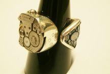 Steam punk watch mechanism jewellery