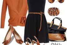 Orange cardigans