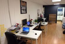 """Our Office! / As every person who has ever been on MTV Cribs once said... """"this is where the magic happens""""."""