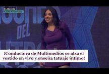 ¡Conductora de Multimedios se alza el vestido en vivo y enseña tatuaje íntimo!