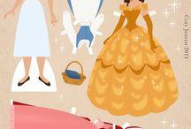 princesas recortables