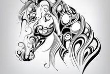 zvierata - kôň - kresba, malba