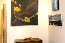 Art Aborigène - Eurantica - Heysel 2015 / Art Aborigène d'Australie. Peintures d'Art Aborigène. Eurantica art fair. Heysel.