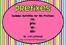 Classrooms Prefixes and Suffixes