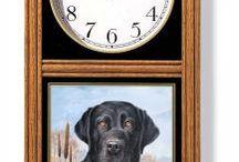 Fun Wildlife Oak Clocks