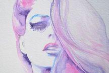 maľby, kresby