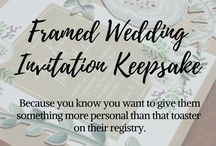 Wedding Keepsakes / Guest Book Alternatives and Thoughtful Gifts for the Sentimental Bride