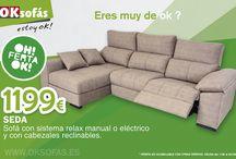 OFERTAS OK Sofás / #siéntete ok con nuestras ofertas del mes!