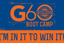 G60 Boot Camp / The G-60 BOOTCAMP is a 60 day weight loss challenge which will educate, motivate, and inspire members to utilize a variety of services the club provides; including strength and cardio equipment, personal training, group fitness programs, tennis, and group training through boot camp classes.