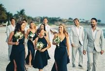 bridal party. / inspiration for attire, floral, etc. for the participants who make your day even more special.