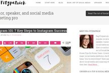 Social Media Success / Stuff I like that will help you better use social media channels like Pinterest, Instagram, Twitter and More.