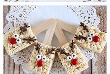 Reindeer rice crispee treats