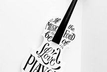 Hand Lettered Objects