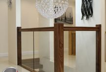 Stair Wood glass