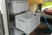 Van: storage and furniture / Converted vans storage solutions: cupboards, drawers, and so on