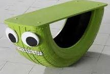 GREEN SOLUTIONS  / Artículos con objetos de reciclaje.