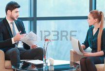 vrouw meeting zakelijk