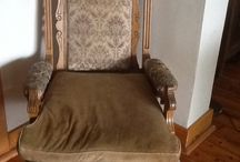 #upholstery#victorian chairs  / Before and after
