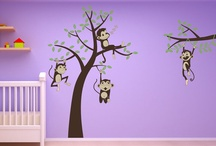 Safari Animal Kids Room, Jungle & Safari Themed Bedroom Ideas & Animal Light Switches / A few ideas to help get you started decorating a boys or girls Jungle themed bedroom :)