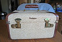 Vintage Luggage, Train Cases, etc. / Old fashioned hard sider luggage and travel train cases. / by More Than McCoy