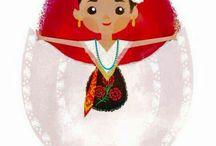 Libro trajes típicos de Mèxico