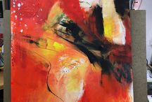 Abstract/expressionism painting, made by alma gallagher