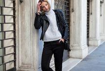 Black leather jeans or jacket