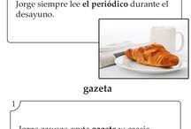 """Hiszpańskie Słówka / Hiszpańskie słówka wybrane z kursu """"Hiszpański w Karteczkach"""", dzięki którym codziennie można poznać nowe, ciekawe słówko."""