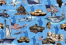 Home of the Brave / Military and Patriotic Fabrics from Quilting Treasures