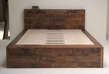 Reclaimed wood furniture / by Holly Rasmussen