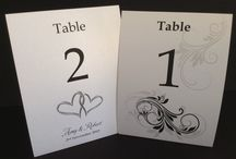 Wedding Extra's / Guest books, bonbonniere, personalised chocolates, table numbers, table menu's, wedding favours